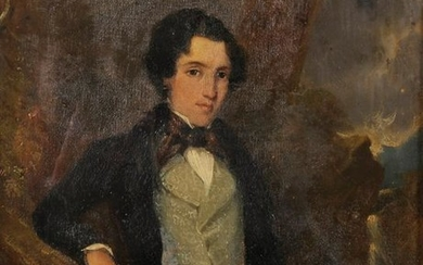 19th Century English School. Portrait of a Young Man