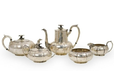 (5 Pc) Crichton and Co. Sterling Silver Tea Service