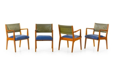 Jens Risom Set of Four Dining Chairs Risom Inc., USA