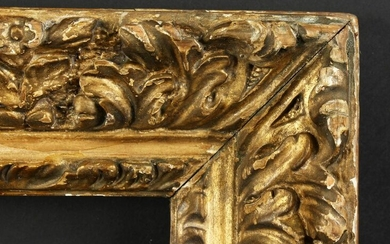 "A 19th Century French Carved Frame. 15"" x 13"" - 38cm x"