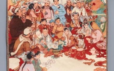 A Chinese Cultural Revolution wall hanging tapestry, 3rd...