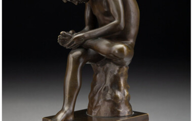 A Grand Tour Bronze Figure of the Spinario (20th century)