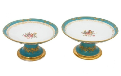 A PAIR OF FRENCH PORCELAIN FRUIT BOWLS VASES, 19TH C.
