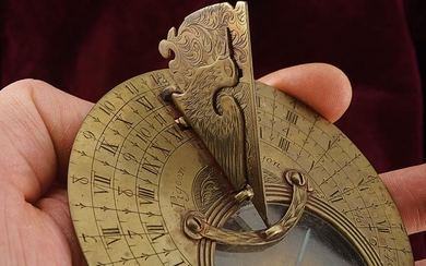 A POCKET SUNDIAL WITH COMPASS BY PIGEON