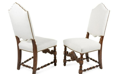 A Pair of William & Mary Style Oak Side Chairs