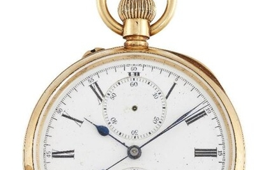 A late 19th/early 20th century gold keyless...