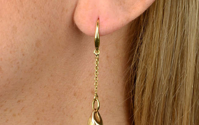 A pair of 18ct gold adapted earrings, by Chimento,