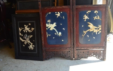 A pair of Antique Chinese Hand Carved Wood Screen