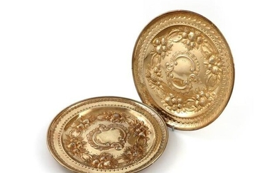 A pair of early 19th century French silver-gilt...