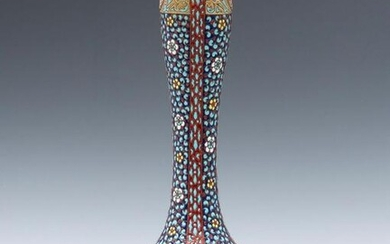 AN EARLY 20TH C. FRENCH PERSIANATE ART POTTERY VASE