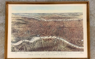 After Currier & Ives Print, City of Philadelphia