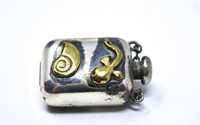 Antique Sterling Silver Perfume Flask Pendant