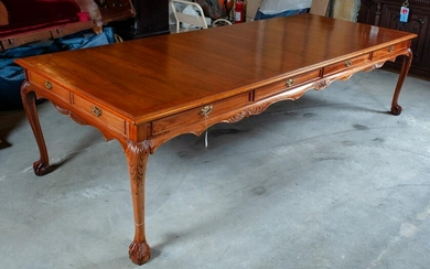 Antique Wood Chippendale 10' Dining Table