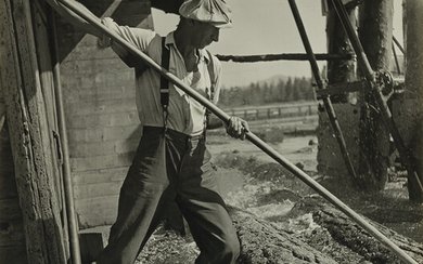 BERENICE ABBOTT (1898 1991) Red River logging company Califo