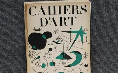 Book: Cahiers D'Art, Miro, Illustrated, Vintage
