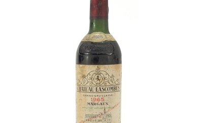 Bottle of 1965 Chateau Lascombes Margaux red wine