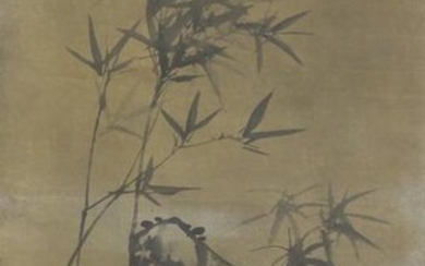 Chinese Painting Of Bamboo And Rock