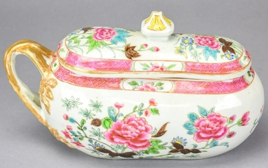 Chinese Porcelain Famille Rose Chamber Pot
