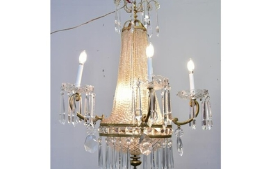 Crystal and Gilt Chandelier