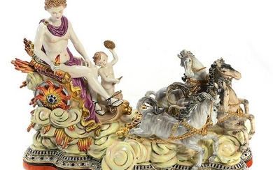 Dresden Porcelain Monumental Figural Group, Mars with