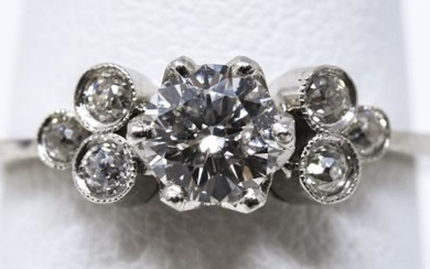 Estate 14kt White Gold & .65 Carat Diamond Ring