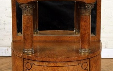 FRENCH BURL WALNUT MARBLE TOP STAND C.1920