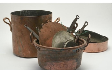 French Antique and Vintage Copper Cookware.