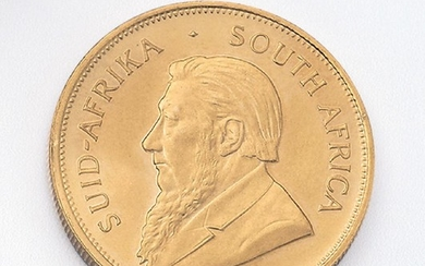 Gold coin, Krugerrand, South Africa, 1979 ,...