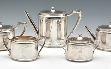 Gorham Sterling Silver 5 Piece Tea and Coffee Service
