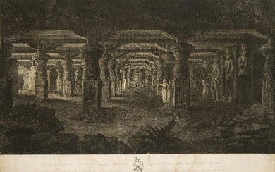 James Phillips, British fl. c.1790- The Temple of Elephanta and...