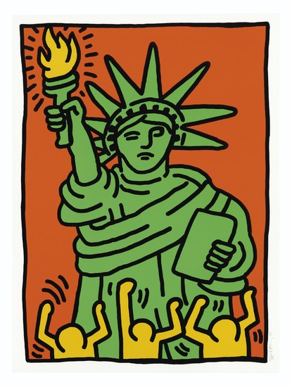 KEITH HARING (1958-1990), Statue of Liberty