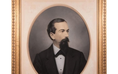 Late 19th century oil on canvas portrait of a gentleman