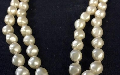 Long Freshwater Pearl Style Necklace, Vintage