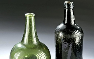 Lot of Two 18th C. European Glass Bottles