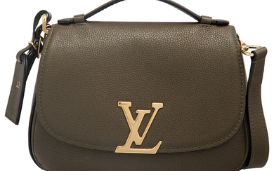 Louis Vuitton Olive Green Leather Vivienne Bag with Gold...