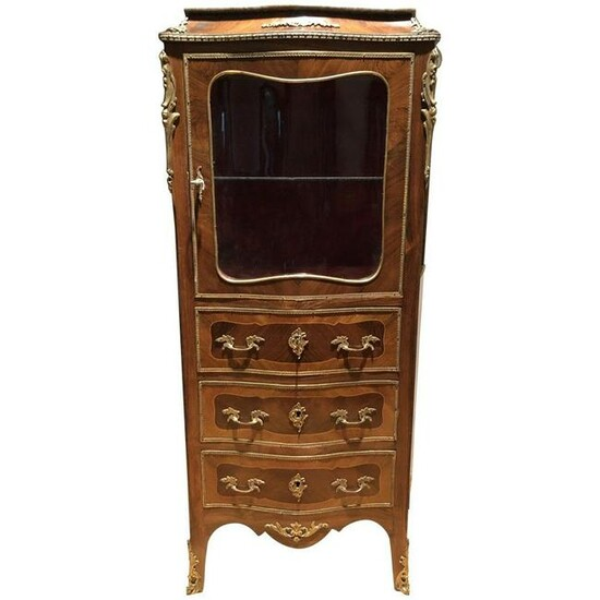 Louis XV Style Mounted Vitrine Late-19th Century