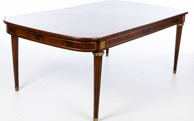 Louis XVI Style Mahogany Extension Dining Table, 20th Century EV1DJ