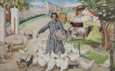 Margaret Clarke RHA (1888-1961), The Irish Farm