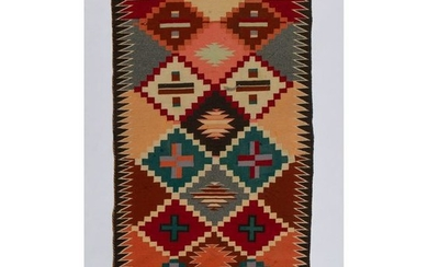 Navajo Contemporary Double Saddle Blanket, From the