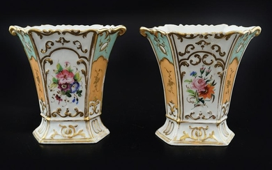 PAIR OF 19TH-CENTURY FRENCH PORCELAIN VASES