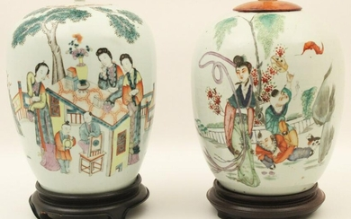 PR OF REPUBLIC PERIOD CHINESE PORCELAIN CAPPED JARS