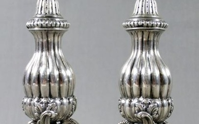 Pair Of Sterling Silver Swan Salt And Pepper Shakers