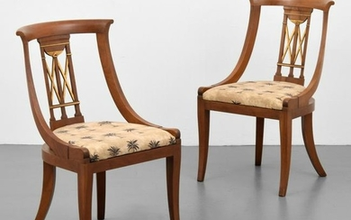 Pair of Baker Furniture Neoclassical Side Chairs