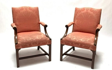 Pair of Georgian Style Library Chairs