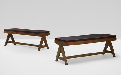 Pierre Jeanneret, benches from the M.L.A. Flats