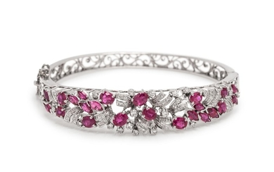 RUBY AND DIAMOND BANGLE BRACELET