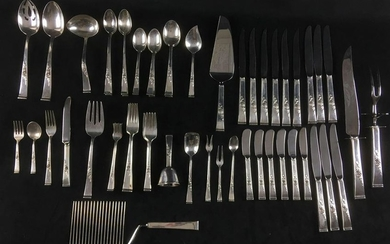 Reed and Barton 77pc Sterling Silver Set Classic Rose