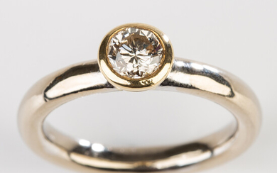Ring, 585 gold with diamond