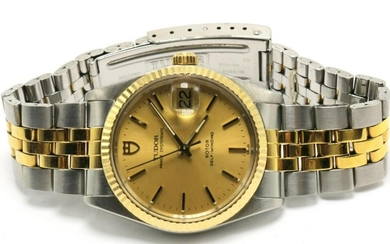 "Tudor ""Prince"" 14Kt & Stainless Steel Watch"