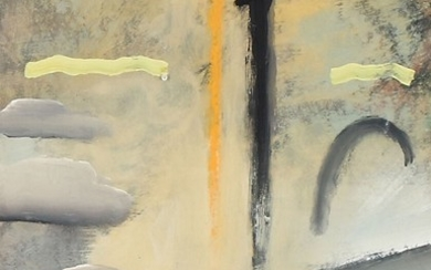 Unknown artist: Two compositions. Indisctintly signed. Pastels on paper. Each visible size 29×21 cm. (2)